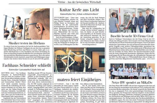 Gränzbote Presseartikel schatz Tuttlingen